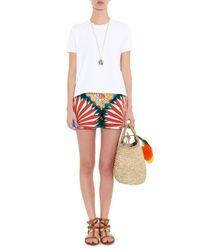 Dolce & Gabbana Multicolor Sicilian Cart-print Cotton Shorts