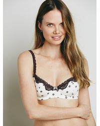 Free People | Black Astrid Printed Balconette | Lyst