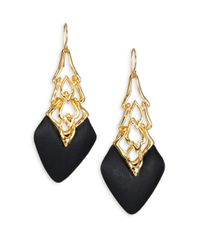 Alexis Bittar | Metallic Imperial Lucite & Crystal Georgian Lace Wire Drop Earrings | Lyst