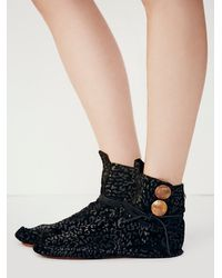Free People - Black Leopard Teaspoon Ankle Moccasin - Lyst