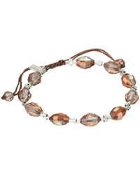 Chan Luu | Metallic 7 1/4 Copper Crystal Pull Tie Single Bracelet | Lyst