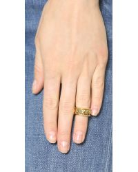 House of Harlow 1960 - Metallic Shakti Midi Ring Stack - Gold Multi - Lyst