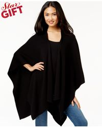 Vince Camuto | Black Poncho Cardigan Sweater | Lyst