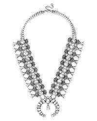 BaubleBar | Metallic 'capri' Amulet Necklace - Howlite | Lyst