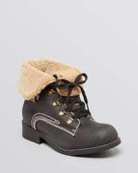 Jeffrey Campbell | Black Ankle Boots Inger Fleece Hiker | Lyst
