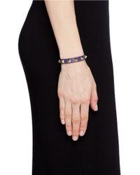 Valentino - Purple 'Rockstud' Leather Bracelet - Lyst