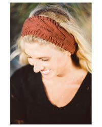 Elizabeth Koh - Red Twig Brown Knit Headband - Lyst