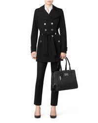 Calvin Klein - Black White Label Logo Jacquard Center Zip Carryall - Lyst