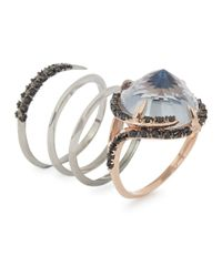 Katie Rowland | Natural Dark Forest Embellished Twisted Ring | Lyst