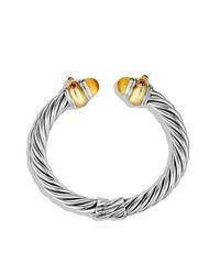 David Yurman - Metallic Renaissance Bracelet With Citrine, Ruby, And Gold - Lyst