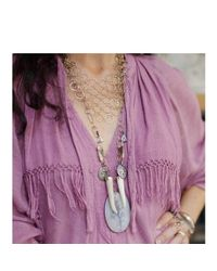 Melissa Joy Manning | Metallic Dendritic Agate And Vintage Pendant Necklace | Lyst