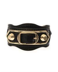 Balenciaga | Metallic Studded Leather Bracelet | Lyst