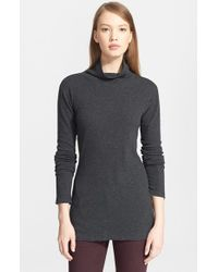 Rag & Bone | Gray Cotton Turtleneck | Lyst