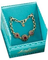 Lucky Brand - Metallic Gold-Tone Red Stone Bracelet - Lyst
