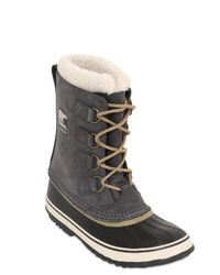 Sorel Gray 1964 Pac Leather Boots