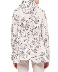 Akris Punto - Natural Abstract Floral-print Drawstring Parka - Lyst