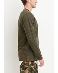 Forever 21   Green Marled Knit Pocket Tee for Men   Lyst