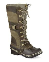 Sorel | Green Conquest Carly Boots | Lyst
