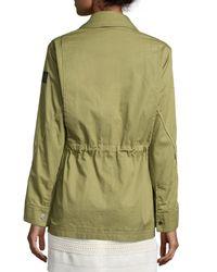 Belstaff - Green Military Drawstring-waist Coat - Lyst