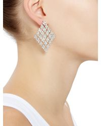 Accessorize - Metallic Shimmering Diamond Chandelier Earrings - Lyst