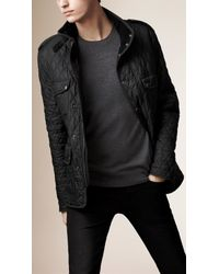 Burberry - Black Diamond Quilted Field Jacket for Men - Lyst