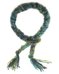 The Elder Statesman | Blue Cashmere Bracelet | Lyst