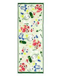 kate spade new york Multicolor Ladybug Picnic Scarf