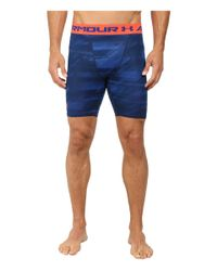 Under Armour - Blue Armour® Heatgear® Printed Compression Short for Men - Lyst