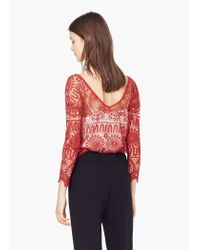 Mango | Orange Openwork Top | Lyst
