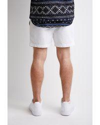 Forever 21   White Pull-on Chino Shorts for Men   Lyst