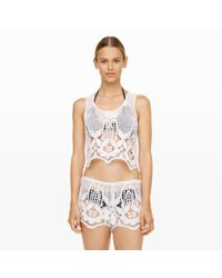 Club Monaco | White Miguelina Ellease Lace Top | Lyst