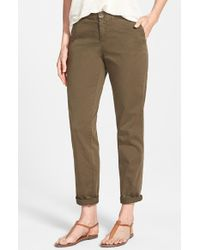 Caslon - Green Stretch Cotton Chino Pants - Lyst