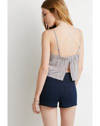 Forever 21 | Gray Vented-back Crop Top You've Been Added To The Waitlist | Lyst