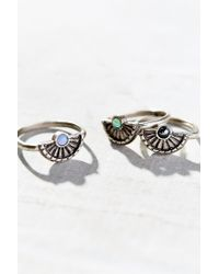 Urban Outfitters | Metallic Luna Ring Set | Lyst