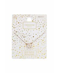 TOPSHOP - Metallic Rose Gold Plated Necklace - Lyst