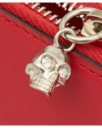 Alexander McQueen - Red Continental Half Zip Wallet - Lyst