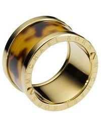 Michael Kors | Brown Heritage Acetate Ring - Ring Size L - S/m | Lyst