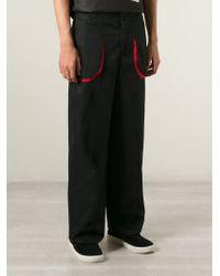 Alexander McQueen - Black Wide Leg Trousers for Men - Lyst