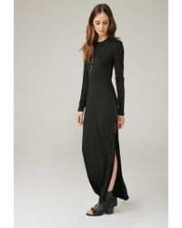 Forever 21 - Black Marina T. High-slit Maxi Dress - Lyst