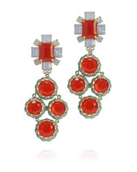 Tory Burch | Orange Rodeo Multi Coral Drop Earring | Lyst