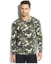 Weatherproof Green 32 Degrees Heat By Men's Camo Thermal T-shirt for men