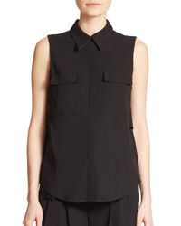 A.L.C. - Black Benjamin Cutout Sleeveless Top - Lyst