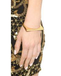 Michael Kors | Metallic Asymmetrical Hinge Bangle Bracelet - Gold | Lyst