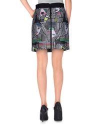 MILLY Black Mini Skirt