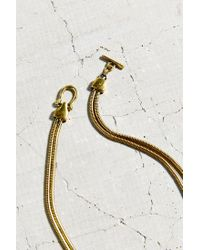 Urban Outfitters - Metallic Double Snake Chain Short Necklace - Lyst