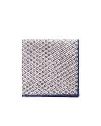 Lardini - Natural Rhombus And Square Print Cotton-linen Pocket Square for Men - Lyst
