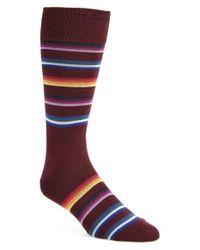 Paul Smith - Red 'modograde' Stripe Socks for Men - Lyst