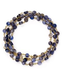 "Ela Rae - Blue Diana Iolite Coin Necklace, 24"" - Lyst"