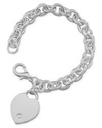 Guess | Metallic Polished Silver-tone Heart | Lyst