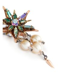 Erickson Beamon | Multicolor Iron Butterfly' Floral Crystal Glass Pearl Earrings | Lyst